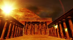 Egyptian Shrine 01 Stock Footage