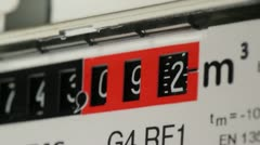 Gasmeter counting 2 Stock Footage