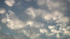 Clouds on blue sky. Stock Footage