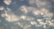Stock Video Footage of Clouds on blue sky.
