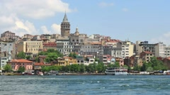 Istanbul, Galata Tower Stock Footage
