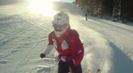 Downhillrunner in the sun Stock Footage