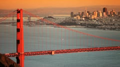 City of San Francisco and Golden Gate Bridge Stock Footage