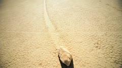Moving Rock Phenomenon Death Valley Colorado Stock Footage