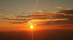 Flight Over Sunset Stock Footage