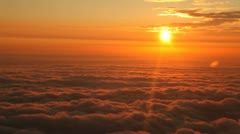 Flight Over Sunset Stock Footage
