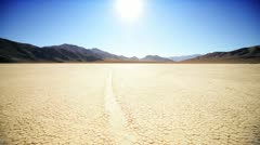 Death Valley Sailing Stones Stock Footage