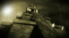 Maya Pyramid Dramatic Sunset 13 Stock Footage