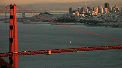 Stock Video Footage of Panoramic San Francisco and Golden Gate Bridge