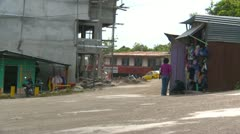 Rio Serano town centre, people mingling Panama Stock Footage