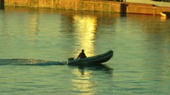 Rubber dinghy malaga 1/2 Stock Footage