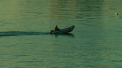 Rubber dinghy malaga 2/2 Stock Footage