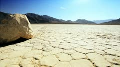 Racetrack Playa Moving Stones - stock footage