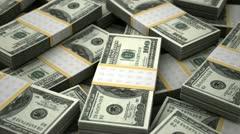 Billion Dollars Stock Footage