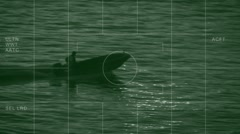 suspect boat observation - stock footage