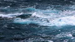 Wild Water Ocean Waves Stock Footage