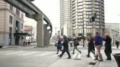 People crossing Stock Footage