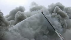 Amid the Force of Nature - House Fire Causes Billowing Smoke Stock Footage