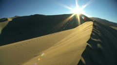 Time lapse Setting Sun on Sand Dunes Stock Footage