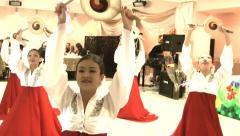 Korean Girls dancing Stock Footage
