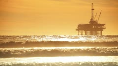 Coastal Crude Oil Pumping Stock Footage