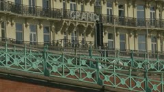 The Grand Hotel in Brighton - 2 clips Stock Footage