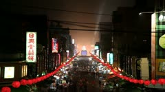 Timelapse Chinese New Year on street Stock Footage