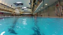 swimming pool jump - stock footage