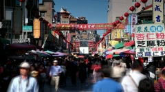 Busy Taiwanese market Stock Footage
