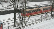 Tram in the Snow Stock Footage