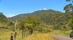 Rural traffic on hill, Panama Stock Footage