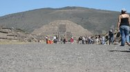 Stock Video Footage of Teotihuacan pyramid of the moon