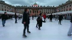 Skating in London Stock Footage