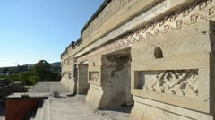 Mesoamerican Palace in Mitla Stock Footage