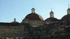 Spanish church build over Zapotec structure Stock Footage