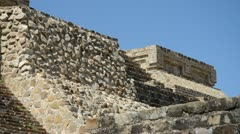 Monte Alban Zapotec temple Stock Footage