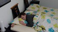 10653 sleepless sleep position time lapse close Stock Footage