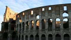 Coliseum in Rome, Italy Stock Footage