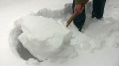 Snow Clearance Stock Footage