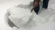 Stock Video Footage of Snow Clearance