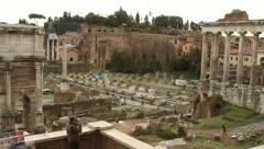 Foro Romano in Rome, Italy Stock Footage