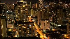 Time lapse City Hotel Light Night Stock Footage