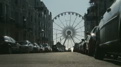 Brighton's eye 'big wheel' at end of street Stock Footage