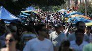 Stock Video Footage of Crowd - Brazil - Street Market