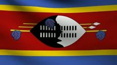 Swaziland flag. Stock Footage