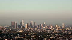 Los Angeles skyline day to night timelapse Stock Footage