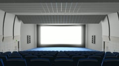 Cinema auditorium, flying into the screen Stock Footage
