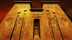 Egyptian Shrine 05 dolly Stock Footage