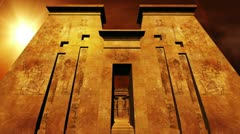 Egyptian Shrine 06 dolly Stock Footage