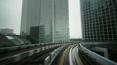Tokyo automated train timelapse Stock Footage